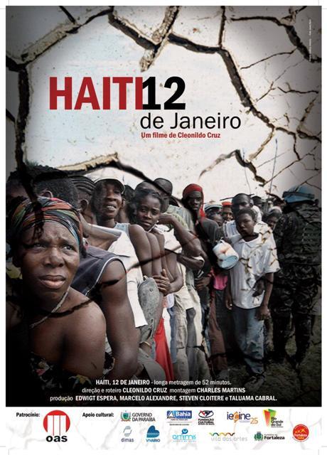 Cartaz Haiti, 12 de janeiro