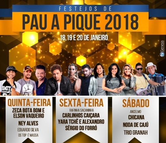 Cartaz festa Pau a Pique 2018