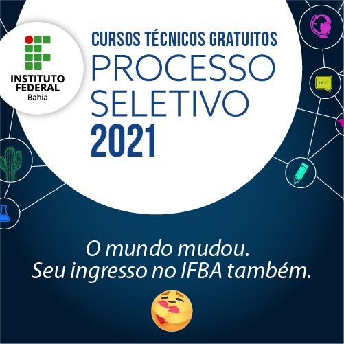 IFBA abre inscrições gratuitas para Processo Seletivo dos cursos técnicos 2021 com seleção por histórico escolar | Blog do Didi Galvão